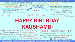 Kaushambi   Languages Idiomas - Happy Birthday