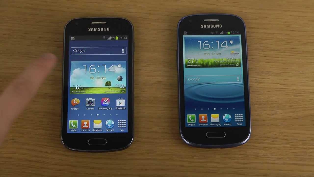 Samsung Galaxy Trend S7560 vs. Samsung Galaxy S3 Mini ...  Samsung Galaxy ...