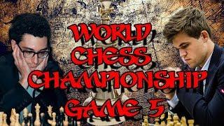 Caruana vs Carlsen | World Chess Championship 2018 - Game 5