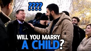 WILL YOU MARRY A CHILD?? BRILLIANT REPLY - SPEAKERS CORNER