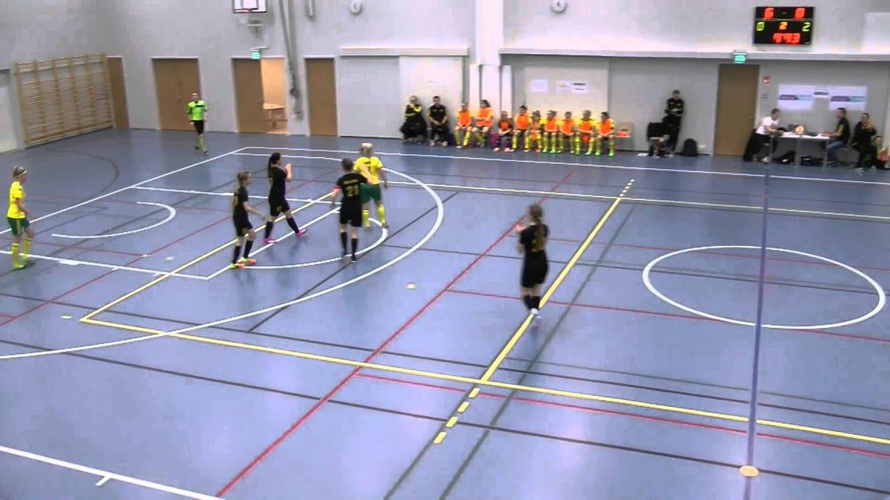 Ilves FS-LLuja 10-1 (5-0) Naisten Futsal-Liiga 8.11.2015 maalikooste - YouTube