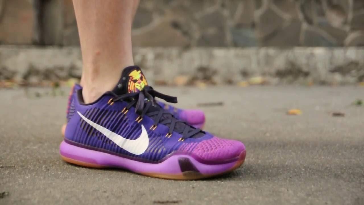 965872316ff2 2015 Nike Kobe X Elite Low   Opening Night   Draft Pick   on feet. wdywt  womft