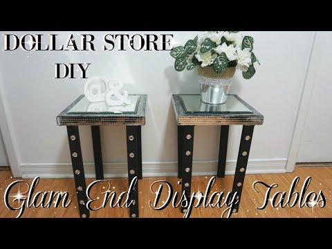 DIY DOLLAR STORE | GLAM END DISPLAY TABLES | DIY GLAM HOME DECOR IDEAS | PETALISBLESS