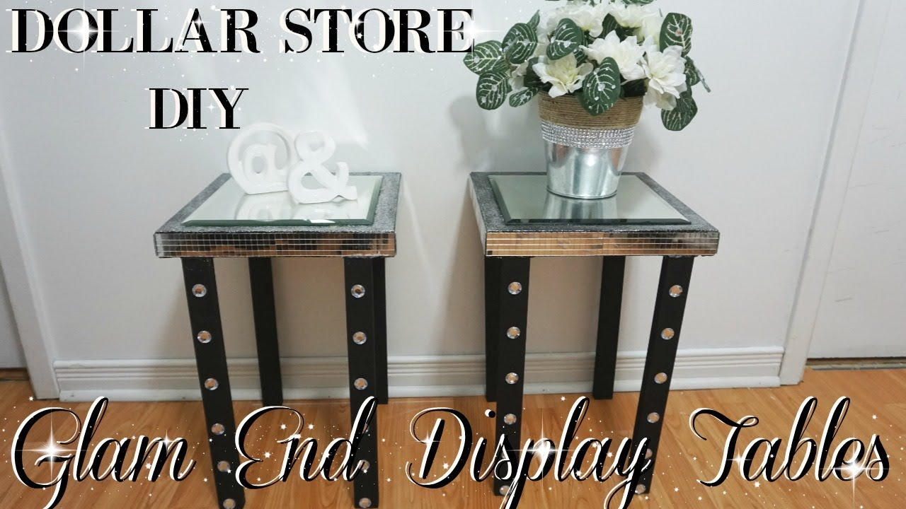 Diy Dollar Store Glam End Display Tables Diy Glam Home Decor