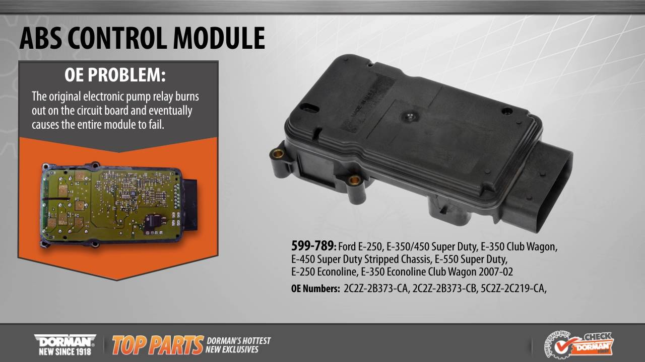 Highlighted Part: ABS Control Module for Select Ford E-Series Models