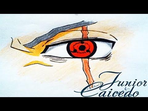 Dibujo Ojo Sharingan De Kakashi  YouTube