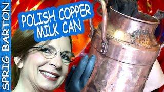 POLISH COPPER with LEMON & SALT: How to Clean Copper & Brass:Pots Pans Sprig Barton: Rubber Gloves