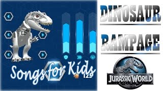 DINOSAUR GAMES: Dinosaur Rampage with Songs for Kids |Newbie Gaming