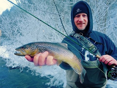 2016 Spring Creek State College, PA Winter Trout Fly Fishing