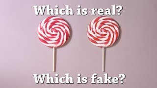 Fun Test: Which is Real? Lollipop Drawing Challenge!