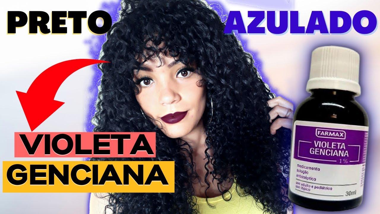 Cabelo Preto Azulado Com Violeta Genciana Andreza Siqueira Youtube