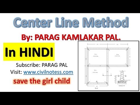 Center line method to estimate the quantities of building in HINDI by PARAG PAL