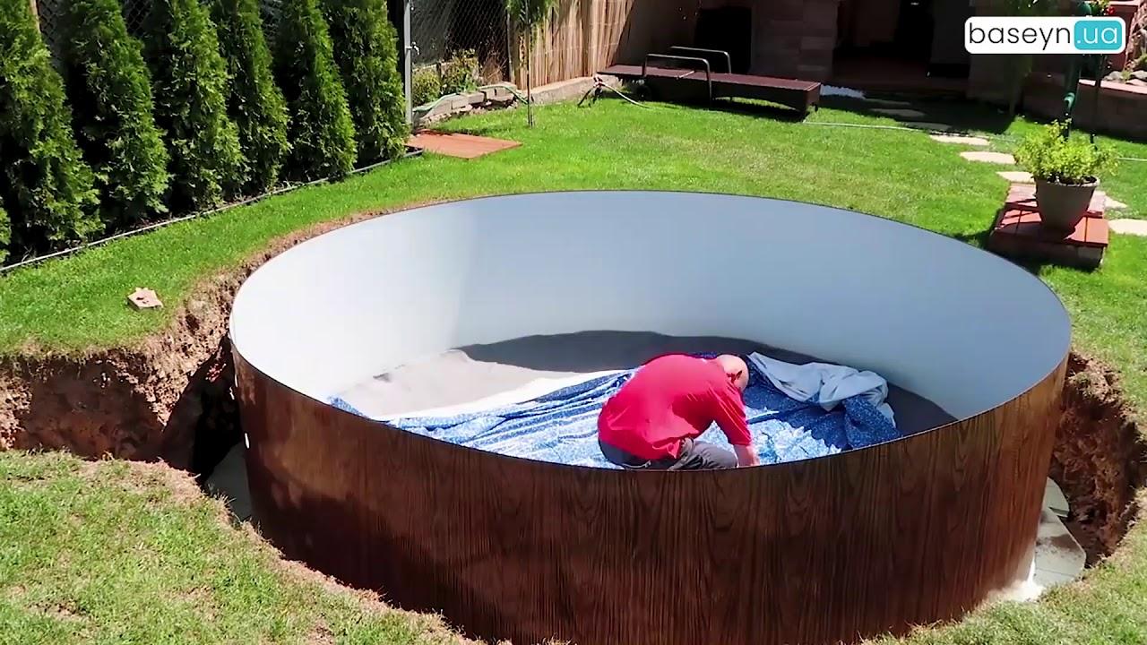 смотреть как устанавливают бассейн видео - 9