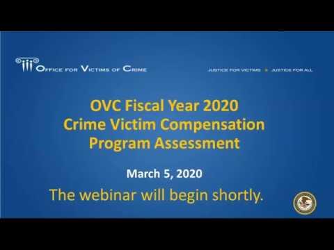 OVC FY 2020 Crime Victim Compensation Program Assessment