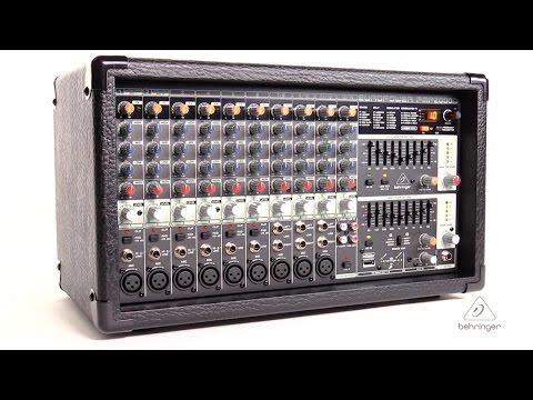 EUROPOWER PMP2000D 2000-Watt 14-Channel Powered Mixer