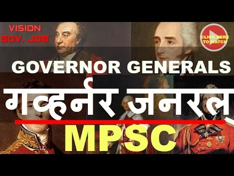 || Governor generals of India || History || important lecture for Upsc mpsc ||