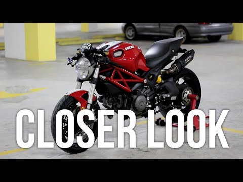 Ducati Monster Walkaround | Closer Look on Mods | #nasirharismotovlog
