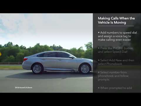 How to Make and Receive Calls with Bluetooth® HandsFreeLink®: 2018 Honda  Accord LCD Audio Models