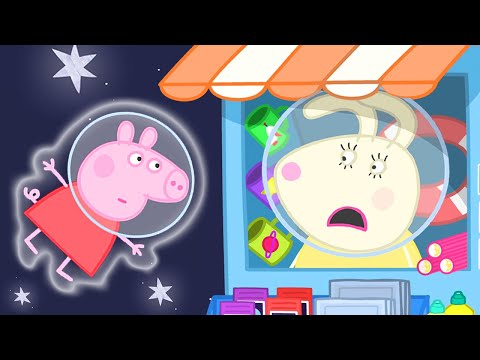 Peppa Pig Official Channel | Peppa Pig Visits Miss Rabbit's Shop on the Moon