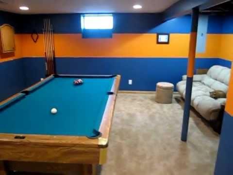 basement game room tour - youtube