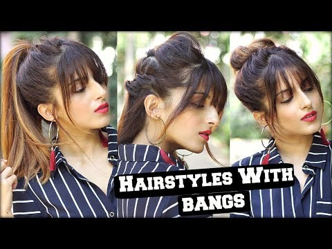 1 Min Everyday Hairstyles With Fringe Bangs 2018 For School
