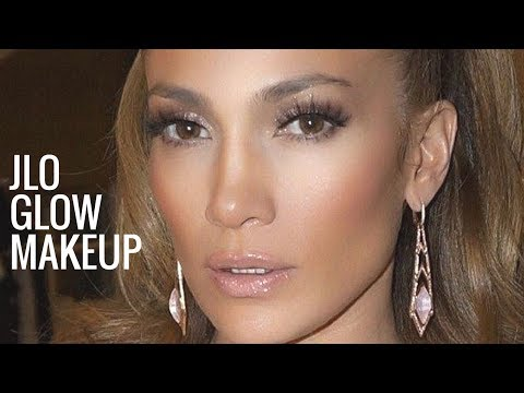 JLO GLOW MAKEUP | Jennifer Lopez Makeup Tutorial | Bronzy Glowy Makeup