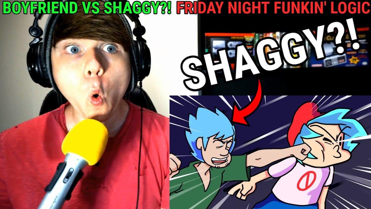 Download BOYFRIEND vs. SHAGGY?! Friday Night Funkin' Logic | Cartoon Animation @GameToons REACTION!