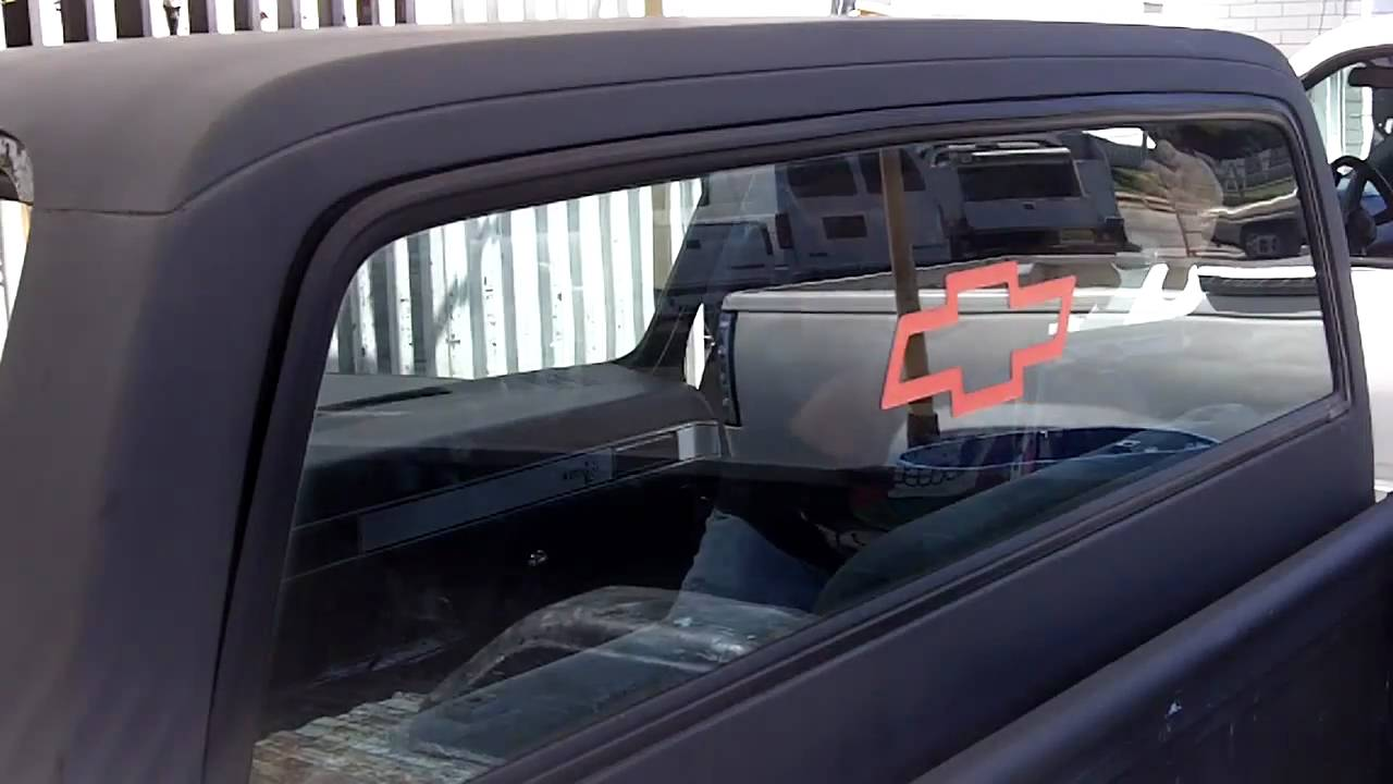 Step Chevy C Truck Flush Fit Back Glass YouTube - Truck back window picture