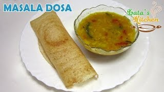Masala Dosa Recipe — South Indian Dosa Recipe Video in Hindi with English Subtitles