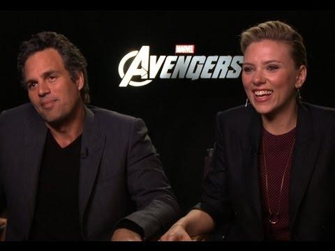 The Avengers - Interview with 'Black Widow' Scarlett Johansson and 'The Hulk' Mark Ruffalo