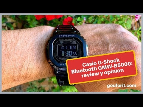 Casio G-Shock Bluetooth GMW-B5000: review y opinión