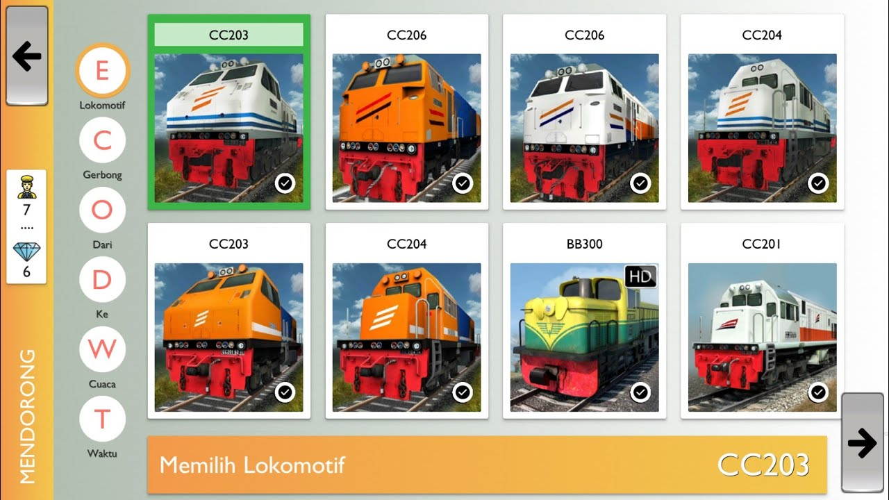 Permainan Kereta Simulator