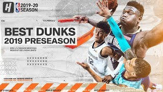 The BEST Dunks & Posterizes From the 2019 NBA Preseason! Video