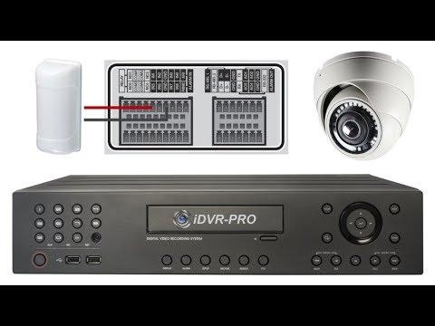 Trigger Video Surveillance Recording on DVR with Burglar Alarm Sensors