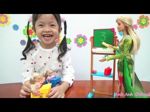 Búp bê BarBie làm cô giáo dạy toán lớp 1 - Barbie I can be a math Teacher, AnhAnhChannel.com