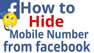 How to hide mobile number from facebook