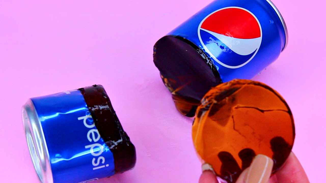 How To Make Real Pepsi Drinking Water Pudding Jelly Cooking Learn the  Recipe DIY 리얼 콜라 푸딩 젤리 만들기