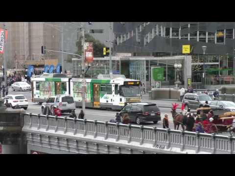 Melbourne Yarra Trams Princess Bridge St Kilda Road 15th July 2016