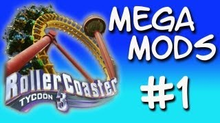 Roller Coaster Tycoon 3 - Mega Mods - Part 1 - Halo Rollercoaster!