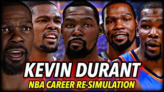 KEVIN DURANT'S NBA CAREER RE-SIMULATION AS A 2021 ROOKIE | NBA 2K21 NEXT GEN