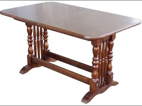 Деревянные столы для кухни. Стол кухонный раскладной Бавария 1