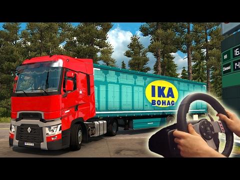 ★Renault Range T - Euro Truck Simulator 2 with Logitech G27   Steering wheel camera #15