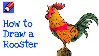 How to draw a Rooster Crowing Real Easy for Chinese New Year