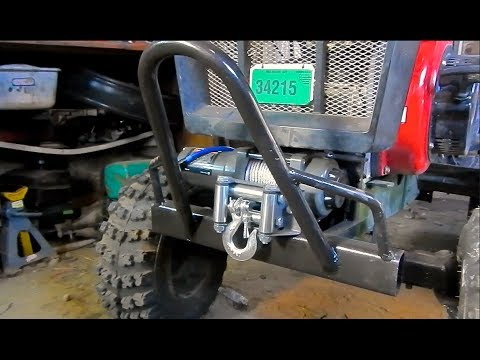 Atv Winch Install Mud Tractor Youtube