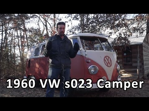 1960 Volkswagen Camper Bus with custom wood stove