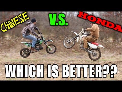 Best Beginner Dirt Bike?? Honda VS Apollo Chinese Pitbike!