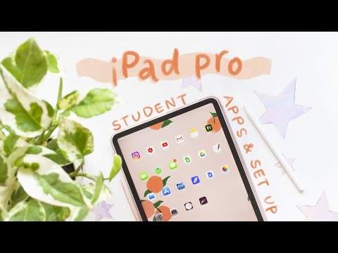 ipad pro unboxing + current setup 🍑 apps and accessories i use for school
