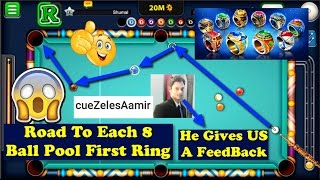 8 Ball Pool - BEST BREAK OFF EVER! Road To Each First Ring ON 8 Ball Pool - 8 Streaks Wins + Tips ?
