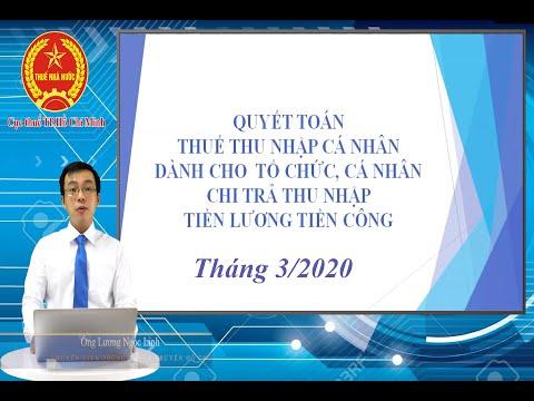 [Cục thuế TP.HCM] Tháng 3/2020-Tập huấn chính sách thuế TNCN dành cho tổ chức, cá nhân năm 2019.
