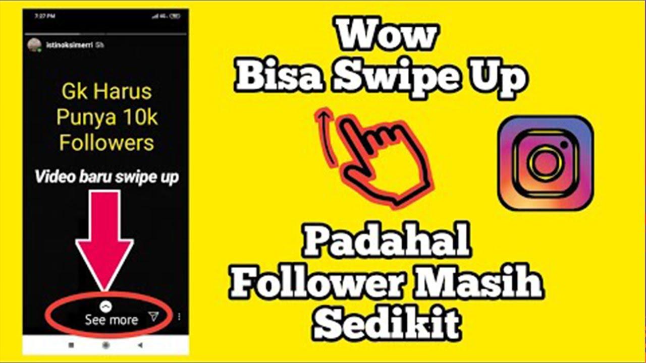 hack instagram cara swipe up